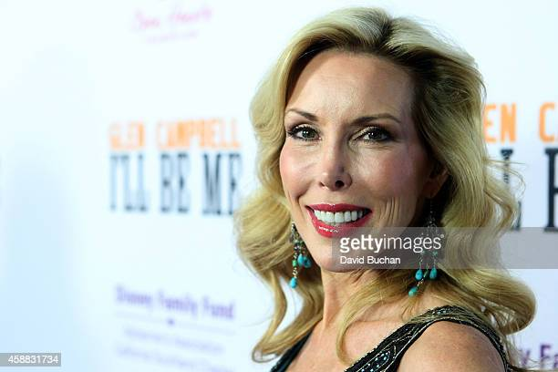 Kim Campbell attends the Premiere of 'Glen Campbell I'll Be Me' at Pacific Design Center on November 11 2014 in West Hollywood California