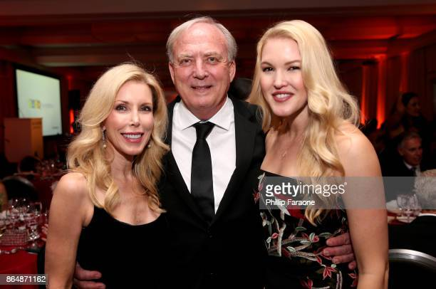 Kim Campbell David Richard and Ashley Campbell at Jane Seymour And The 2017 Open Hearts Gala at SLS Hotel on October 21 2017 in Beverly Hills...