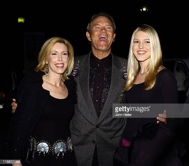 Kim Campbell Glen Campbell and Ashley Campbell during 2004 Annual Coyote Moon Gala at Museum Of The American West in Los Angeles California United...