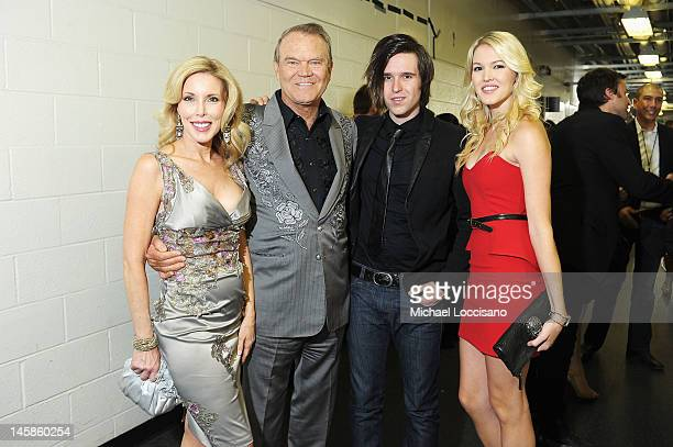 Kim Campbell Glen Campbell Cal Campbell and Ashley Campbell attends the 2012 CMT Music awards at the Bridgestone Arena on June 6 2012 in Nashville...