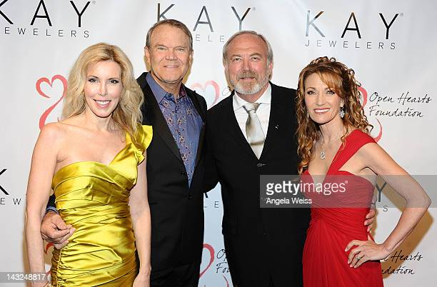 Kim Campbell Glen Campbell James Keach and Jane Seymour attend Jane Seymour's 2nd annual Open Hearts Foundation Celebration held at a private...