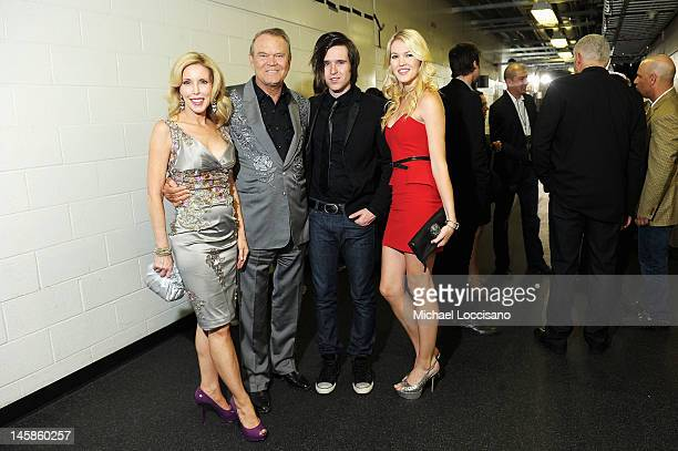 Kim Campbell Glen Campbell Shanon Campbell and Ashley Campbell attends the 2012 CMT Music awards at the Bridgestone Arena on June 6 2012 in Nashville...