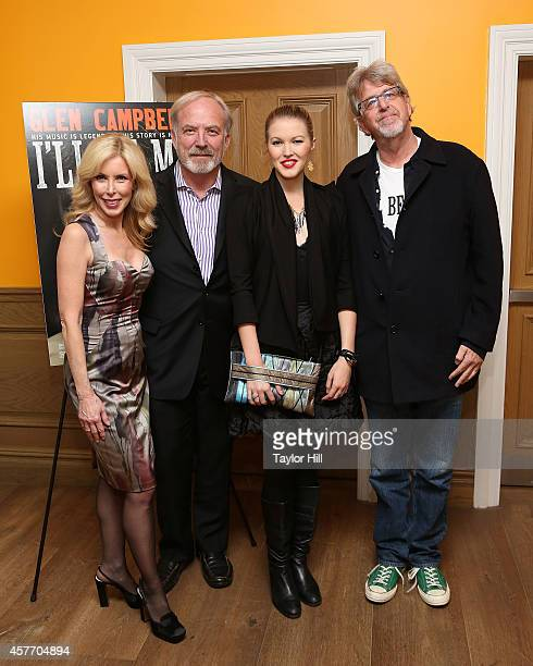 Kim Campbell James Keach Ashley Campbell and Trevor Albert attend the 'Glen CampbellI'll Be Me' New York Premiere at Crosby Street Hotel on October...