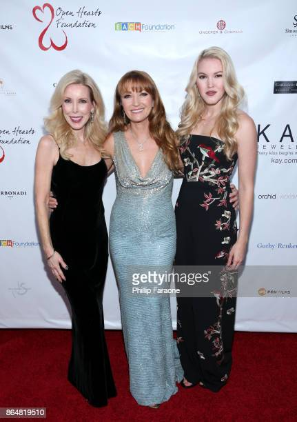 Kim Campbell Jane Seymour and Ashley Campbell at Jane Seymour And The 2017 Open Hearts Gala at SLS Hotel on October 21 2017 in Beverly Hills...