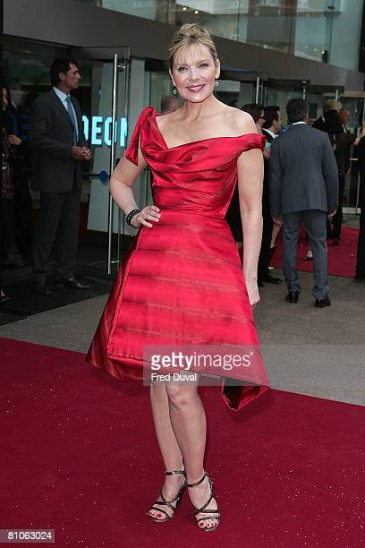 Kim Catrall attends the World Premiere of Sex And The City held at the Odeon Leicester Square on May 12 2008 in London England