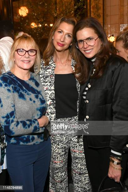 Kim Cattrall, Alysia Reiner and Desiree Gruber attend as Chanel hosts THROUGH HER LENS 2019 Tribeca Film Festival Women's Filmmaker Luncheon at...