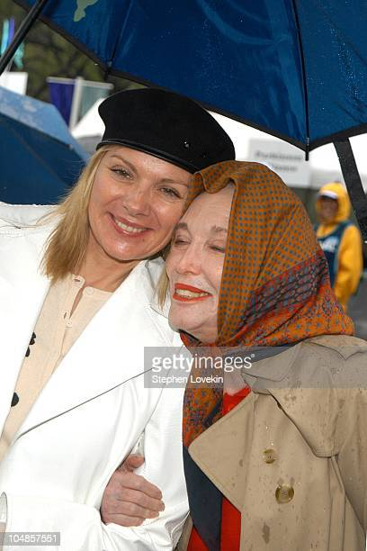 Kim Cattrall and Helen Gurley Brown during 9th Annual Parkinson's Unity Walk at Central Park in New York City, New York, United States.