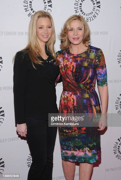Kim Cattrall and Lisa Kudrow attend the 'Who Do You Think You Are' screening at the Paley Center For Media on February 22 2012 in New York City