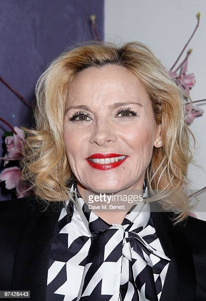 Kim Cattrall and other celebrities attend the 'Private Lives' press night after party at Jewell bar London on March 03 2010
