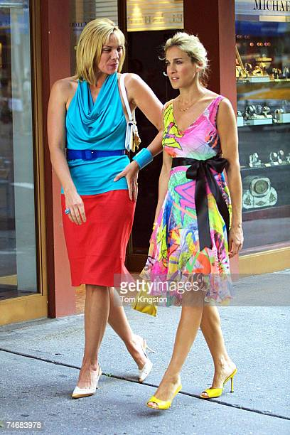 Kim Cattrall and Sarah Jessica Parker at the Streets of New York in New York City New York