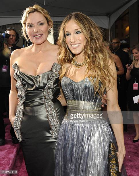 Kim Cattrall and Sarah Jessica Parker attend the premiere of 'Sex and the City The Movie' at Radio City Music Hall on May 27 2008 in New York City