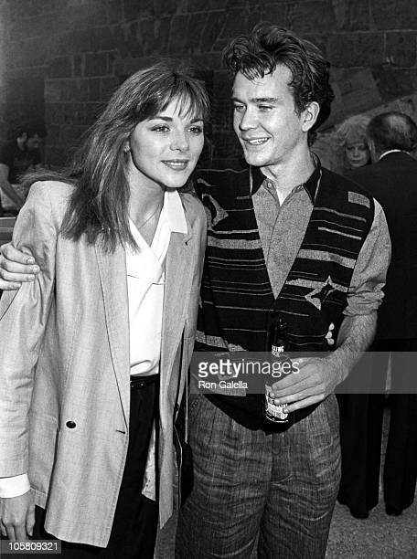 """Kim Cattrall and Timothy Hutton during Launch of """"Turk 182!"""" at Battery Park in New York City, New York, United States."""