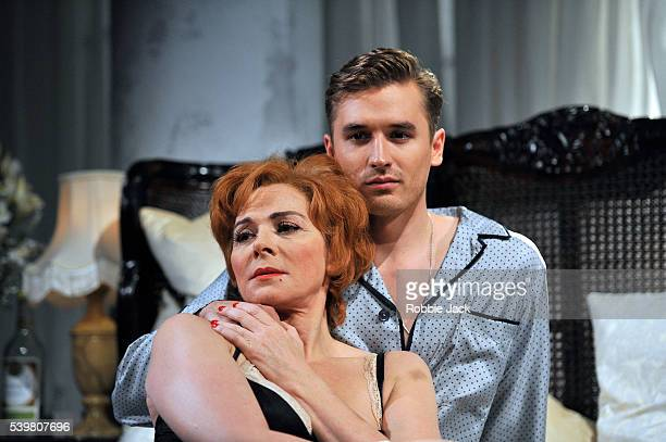 Kim Cattrall as The Princess Kosmonopolis and Seth Numrich as Chance Wayne in Tennessee Williams Sweet Bird of Youth directed by Marianne Elliott at...