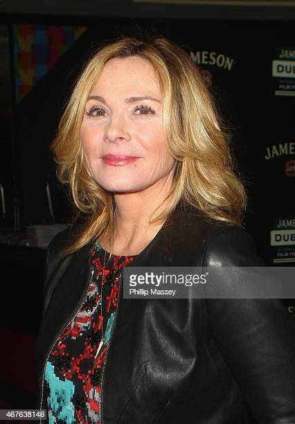 Kim Cattrall attends a screening of 'Sensitive Skin' during the Jameson Dublin International Film Festival at Movies At Dundrum on March 26 2015 in...