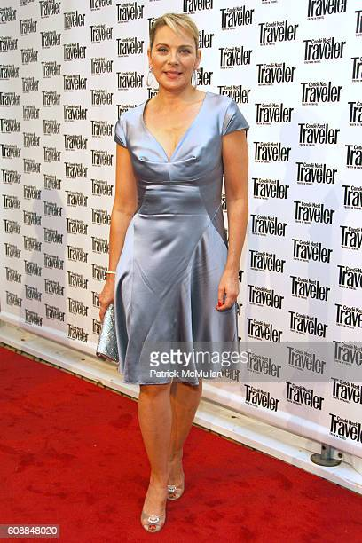 Kim Cattrall attends CONDE NAST TRAVELER Readers' Choice Awards & 20TH Anniversary Party at Cooper-Hewitt National Design Museum on October 10, 2007...