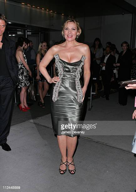 Kim Cattrall attends the after party of 'Sex and the City The Movie' at the MoMa on May 27 2008 in New York City