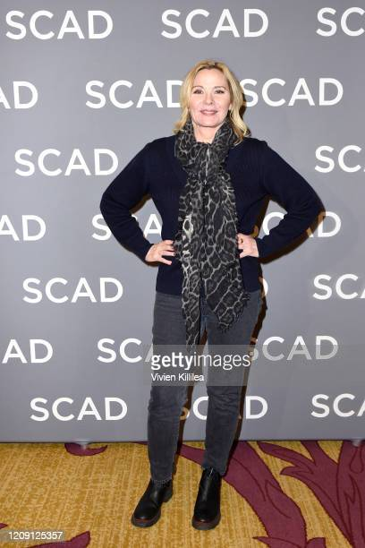 """Kim Cattrall attends the SCAD aTVfest 2020 - """"Filthy Rich"""" With Kim Cattrall Icon Award Presentation on February 27, 2020 in Atlanta, Georgia."""
