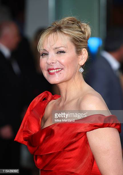 Kim Cattrall attends the Sex And The City world premiere held at the Odeon Leicester Square on May 12 2008 in London England