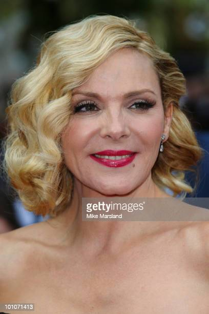 Kim Cattrall attends the UK premiere of Sex And The City 2 at Odeon Leicester Square on May 27 2010 in London England