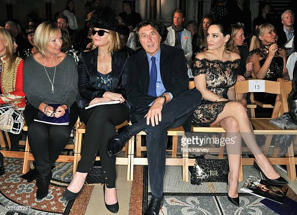 Kim Cattrall Bryan Ferry and Kelly Brook attend the front row for the Philip Treacy show on day 3 of London Fashion Week Spring/Summer 2013 at The...