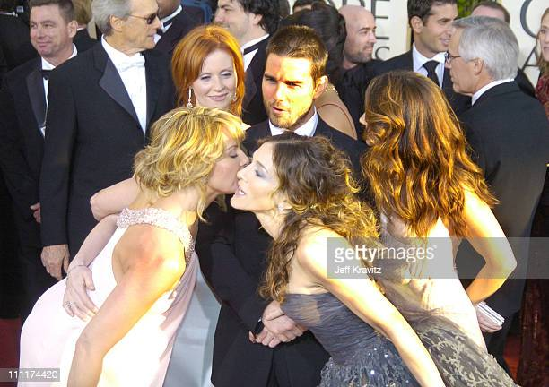 Kim Cattrall Cynthia Nixon Tom Cruise Sarah Jessica Parker and Kristin Davis