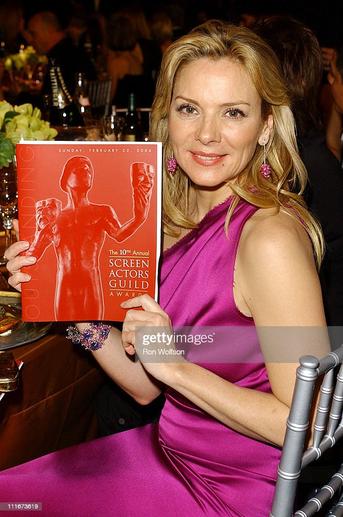 Kim Cattrall during 10th Annual Screen Actors Guild Awards - Backstage and Audience at Shrine Auditorium in Los Angeles, California, United States.