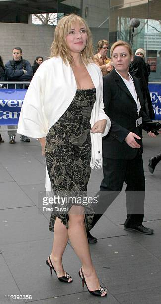 Kim Cattrall during 2004 Evening Standard Theatre Awards at National Theatre in London Great Britain