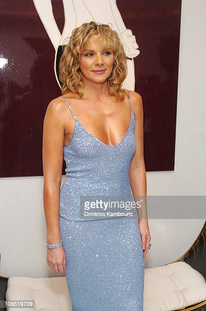 Kim Cattrall during Alberto Sabbadini and Stefania Sabbadini Celebrate the Opening of an Extraordinary Jewelry Exhibition Fabulous Flowers at Ingrao...