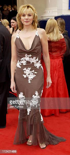 Kim Cattrall during BAFTA TV Awards at Theatre Royal in London England Great Britain