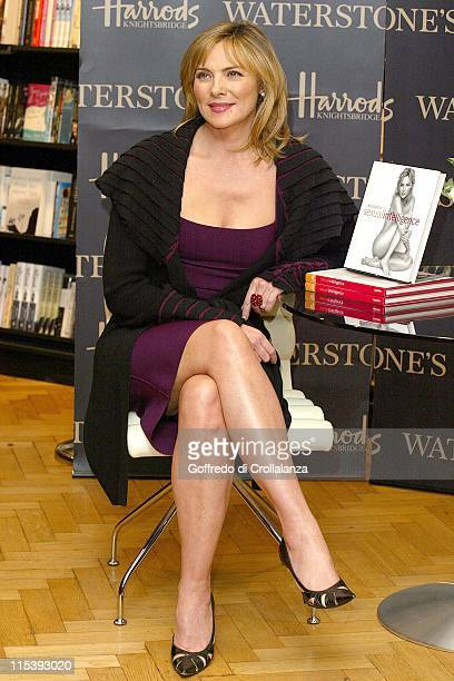 Kim Cattrall during Kim Cattrall Signs Her Book 'Sexual Intelligence' at Harrods in London November 7 2005 at Book Department Harrods in London Great...