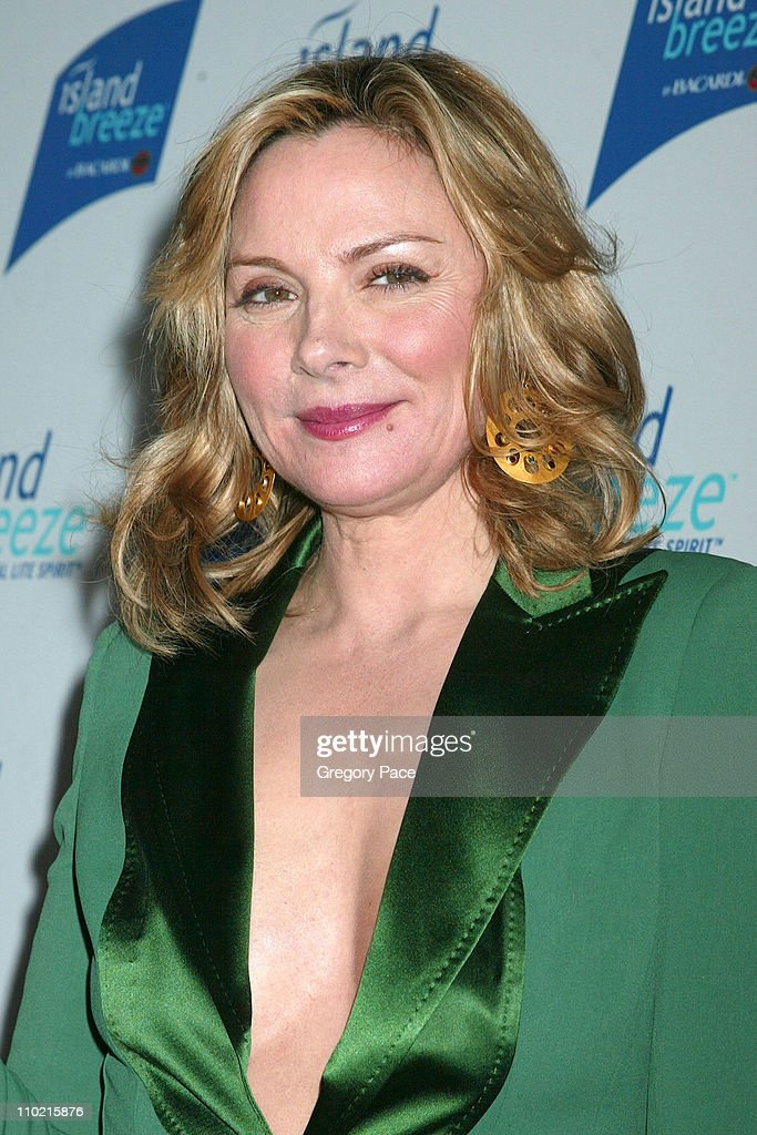 Kim Cattrall during Kim Cattrall Unveils New Half Calorie Liquor, Island Breeze by Bacardi, The Original Lite Spirit at Hotel Gansevoort in New York City, New York, United States.