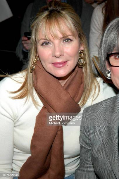 Kim Cattrall during MercedesBenz Fashion Week Fall 2007 Michael Kors Front Row and Backstage at The Tent Bryant Park in New York City New York United...