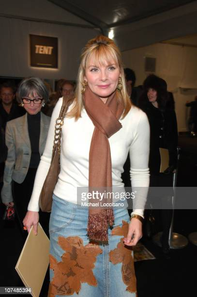 Kim Cattrall during Mercedes-Benz Fashion Week Fall 2007 - Michael Kors - Front Row and Backstage at The Tent, Bryant Park in New York City, New...