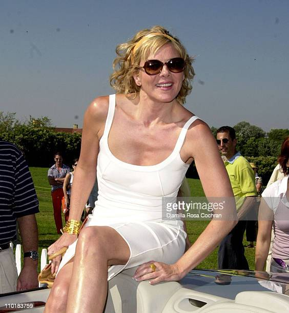 Kim Cattrall during Mercedes-Benz USA and Kim Cattrall are hosting the opening day of Mercedes-Benz Polo Challenge at Bridgehampton Polo Club in...