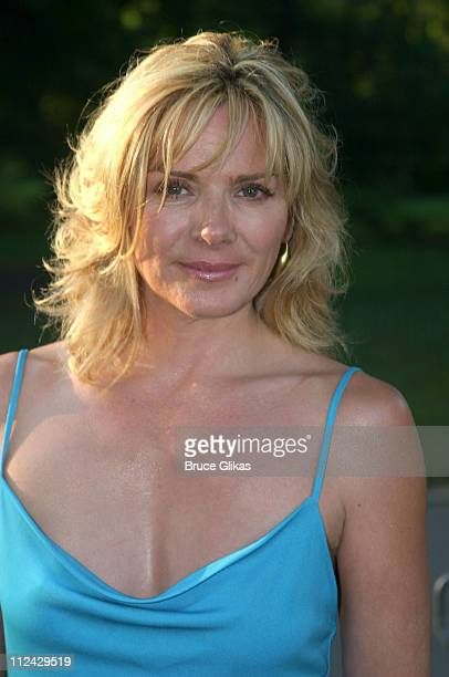 Kim Cattrall during Opening Night of Henry V and Summer Benefit for The Public Theater and Shakespeare in Central Park at Delacorte Theater in New...