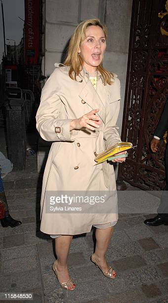 Kim Cattrall during Royal Academy Summer Exhibition 2007 - VIP Private View - Departures at Royal Academy in London, Great Britain.