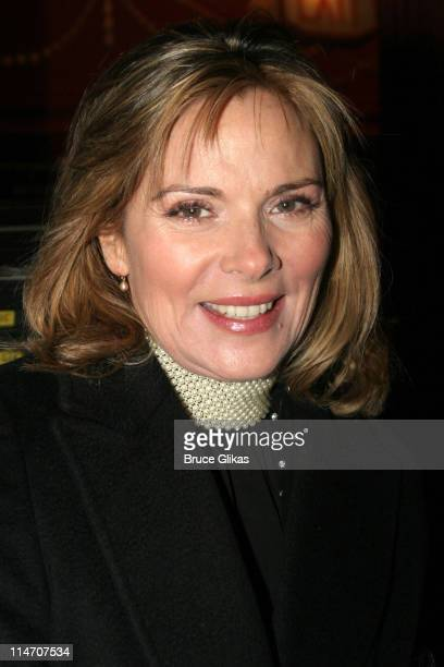 Kim Cattrall during Sarah Jones' Bridge and Tunnel Broadway Opening Night Arrivals at Helen Hayes Theatre in New York City New York United States