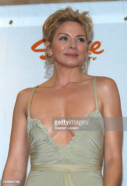 Kim Cattrall during Spike TV Presents 2003 GQ Men of the Year Awards Press Room at The Regent Wall Street in New York City New York United States