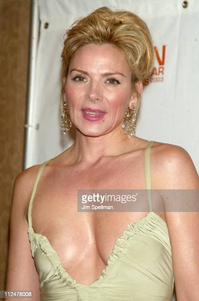 Kim Cattrall during Spike TV Presents the 2003 GQ Men of the Year Awards Press Room at The Regent Wall Street in New York City New York United States