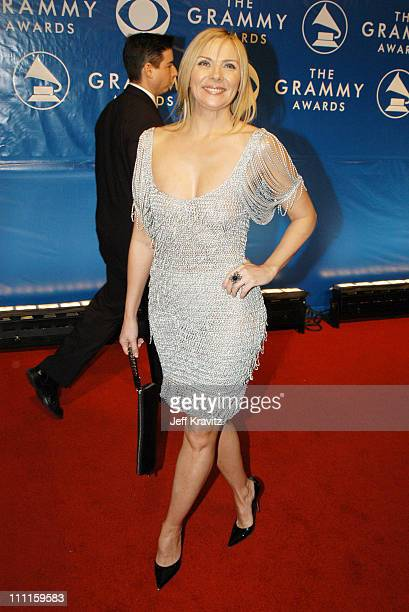 Kim Cattrall during The 45th Annual GRAMMY Awards Arrivals at Madison Square Garden in New York NY United States