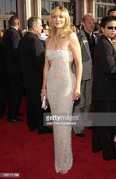 Kim Cattrall during The 55th Annual Primetime Emmy Awards Arrivals at The Shrine Theater in Los Angeles California United States