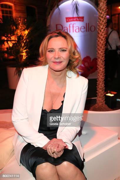 Kim Cattrall during the Raffaello Summer Day 2017 to celebrate the 27th anniversary of Raffaello at 'Koenigliche Porzellan Manufaktur' Berlin on June...