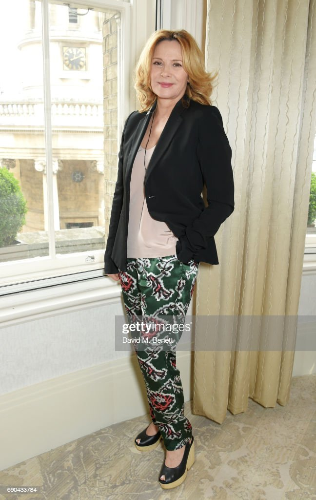 Kim Cattrall hosts the BAFTA Breakthrough Brits lunch at The Langham Hotel on May 31, 2017 in London, England.