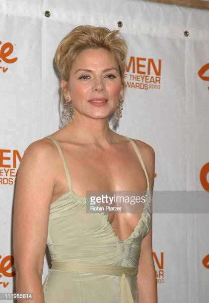 Kim Cattrall in Donna Karan during Spike TV Presents 2003 GQ Men of the Year Awards Press Room at The Regent Wall Street in New York City New York...