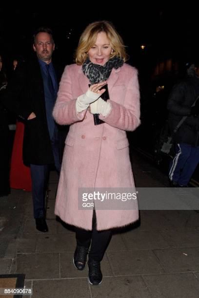 Kim Cattrall leaving Claridge's hotel Mayfair on December 1 2017 in London England