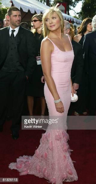 Kim Cattrall nominated for Outstanding Supporting Actress in a Comedy Series for Sex and the City attends the 56th Annual Primetime Emmy Awards at...