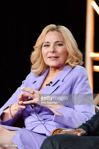 Kim Cattrall of 'Filthy Rich' speaks during the Fox segment of the 2020 Winter TCA Press Tour at The Langham Huntington, Pasadena on January 07, 2020...