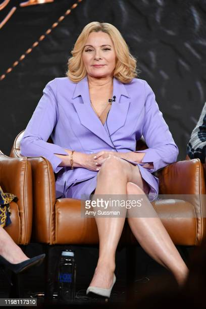 Kim Cattrall of 'Filthy Rich' speaks during the Fox segment of the 2020 Winter TCA Press Tour at The Langham Huntington Pasadena on January 07 2020...