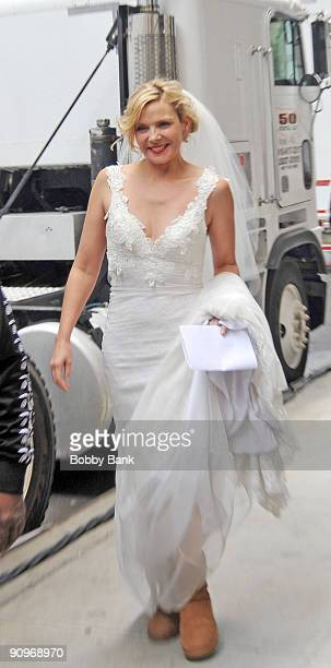 Kim Cattrall on location for 'Sex and the City 2' on the streets of Manhattan on September 18 2009 in New York City