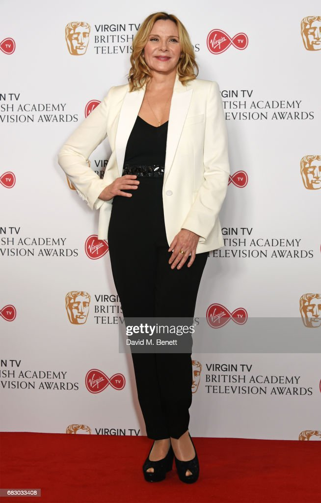 Kim Cattrall poses in the Winner's room at the Virgin TV BAFTA Television Awards at The Royal Festival Hall on May 14, 2017 in London, England.